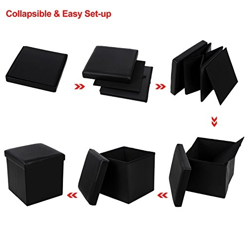 Awesome Wellknown Coffee Table Footrests Inside Songmics Faux Leather Storage Ottoman Cube Footrest Coffee Table (Image 12 of 40)