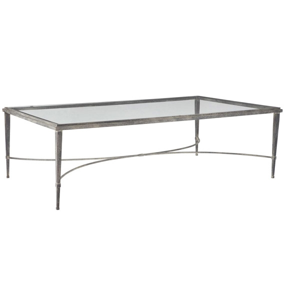 Awesome Well Known Coffee Tables Metal And Glass Within Monticello Metal Glass Coffee Table Oka (Image 7 of 40)