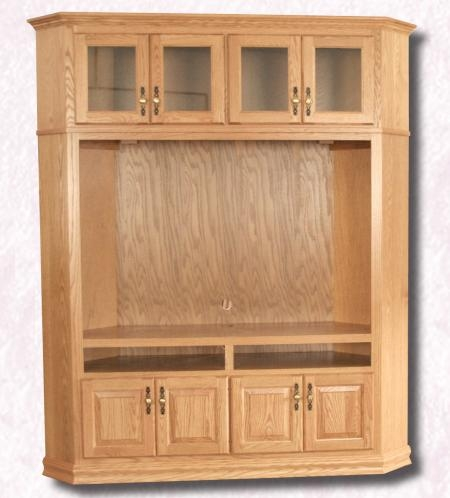 Awesome Well Known Corner TV Cabinets For Flat Screen Intended For Tv Corner Cabinets And Stands Clear Creek Amish Furniture (View 6 of 50)