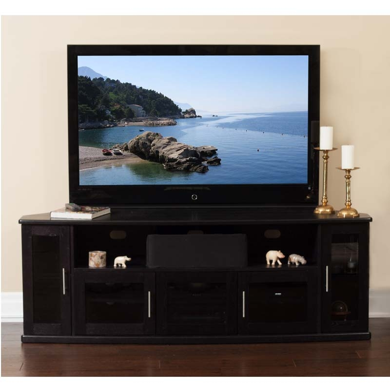 Awesome Well Known Corner TV Cabinets For Flat Screens With Doors Pertaining To Plateau Newport Series Corner Wood Tv Cabinet With Glass Doors For (Image 9 of 50)