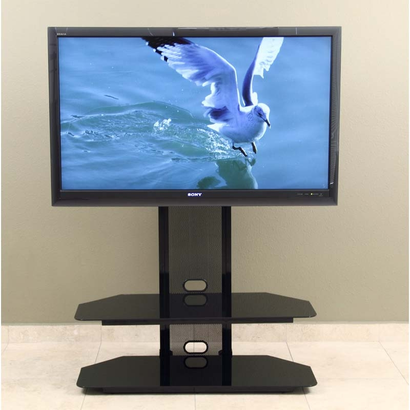 Awesome Well Known Corner TV Stands For 60 Inch Flat Screens With Currently Editing Transdeco Black Glass Tv Stand With Integrated (Image 9 of 50)