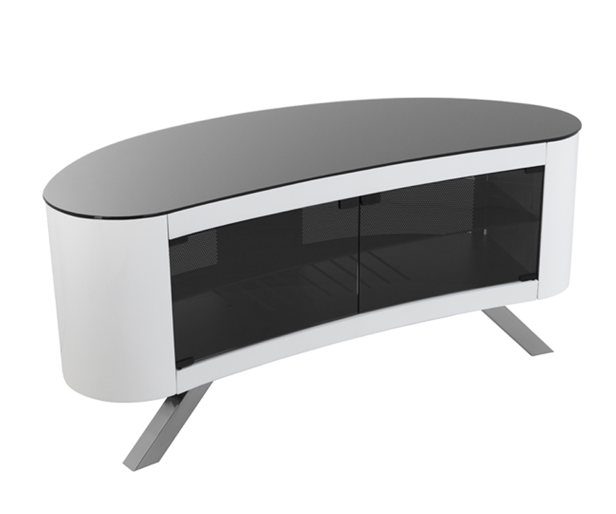 Awesome Well Known Curve TV Stands With Regard To Avf Affinity Bay 1150 Curved Tv Stand For Tvs Up To (View 3 of 50)