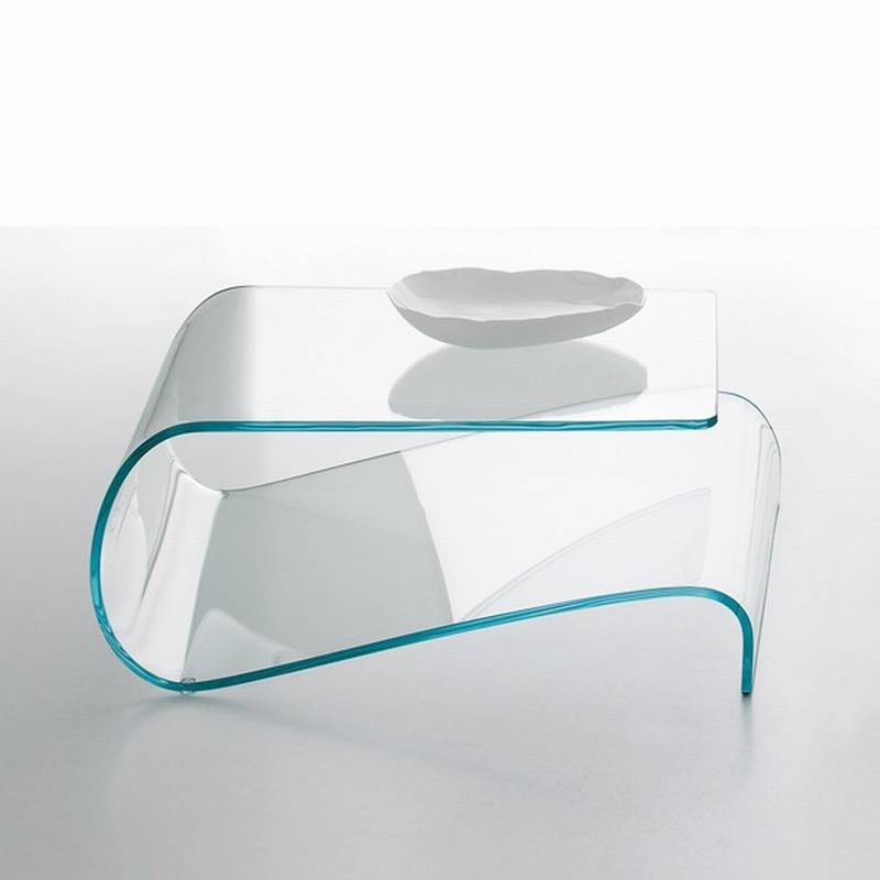 Awesome Well Known Curved Glass Coffee Tables Within Tonin Casa Velo 8166 Coffee Tables Bent Glass Curved Glass (Image 5 of 50)