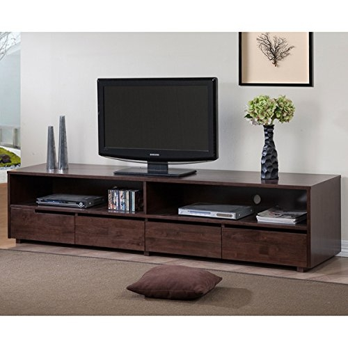 Awesome Wellknown Dark Walnut TV Stands With Amazon 7850 Inches 4 Drawer Dark Walnut Finish Entertainment (Image 10 of 50)