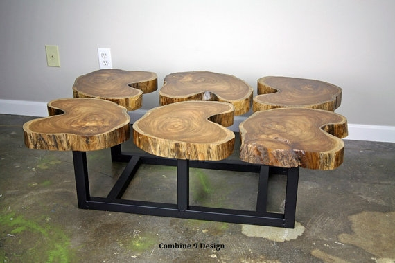 Awesome Wellknown Funky Coffee Tables Regarding Live Edge Coffee Table Unique Coffee Table Wood Slab Table (View 28 of 50)