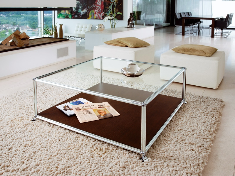 Awesome Well Known Glass Coffee Tables With Storage Inside Coffee Table Wonderful Square Glass Coffee Table Ideas Large (Image 9 of 50)