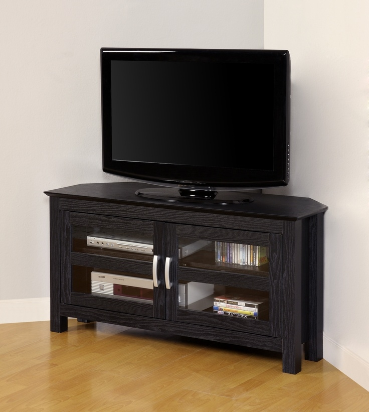 Awesome Well Known Glass Corner TV Stands For Flat Screen TVs Within 24 Best Tv Stands Images On Pinterest Wood Tv Stands (Image 7 of 50)