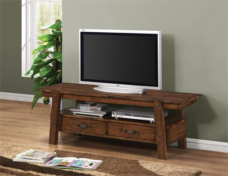 Awesome Wellknown Hardwood TV Stands Inside Best 25 Dark Wood Tv Stand Ideas On Pinterest Rustic Tv Stands (Image 10 of 50)