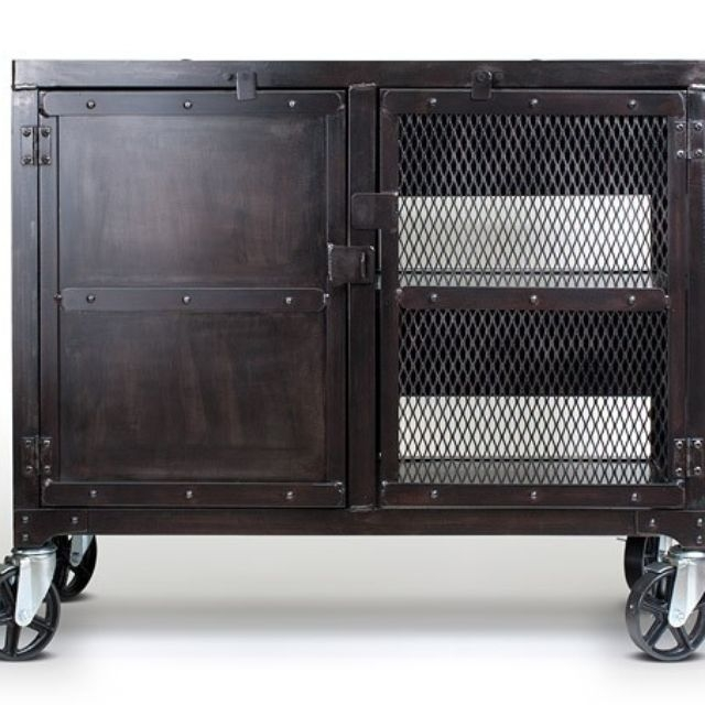 Awesome Wellknown Industrial Metal TV Stands For Hand Crafted Small Industrial Media Wine Cabinet Tv Stand Liquor (Image 6 of 50)