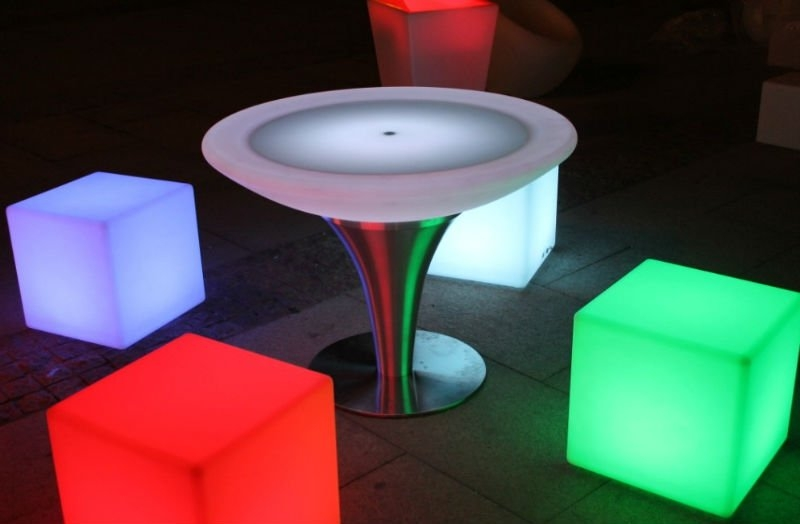 Awesome Well Known Led Coffee Tables Inside Lighted Lucite Cocktail Table At 1stdibs Fibreglass Table Lights (Image 8 of 50)