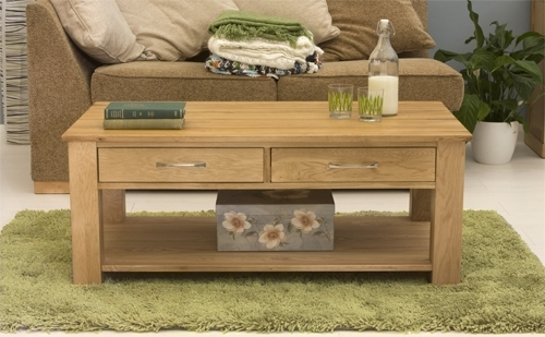 Awesome Well Known Light Oak Coffee Tables With Drawers For Oak Coffee Tables (View 4 of 40)