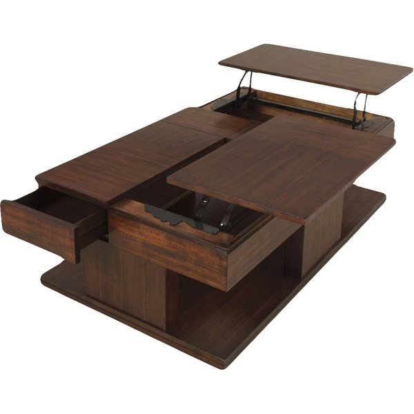 Awesome Wellknown Logan Lift Top Coffee Tables For Dar Home Co Dail Coffee Table With Double Lift Top Reviews (Image 8 of 50)