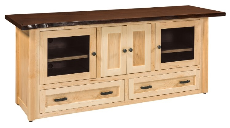 Awesome Well Known Maple TV Stands Inside Entertainment Tv Stands Stereo Cabinets Portland Oak (View 4 of 50)