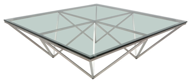 Awesome Wellknown Metal Square Coffee Tables With Nuevo Living Origami Coffee Table Contemporary Coffee Tables (Image 11 of 40)