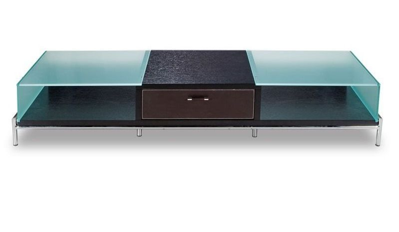 Awesome Wellknown Modern Plasma TV Stands For Contemporary Frosted Glass And Wood Tv Stand On Chrome Legs (Image 7 of 50)