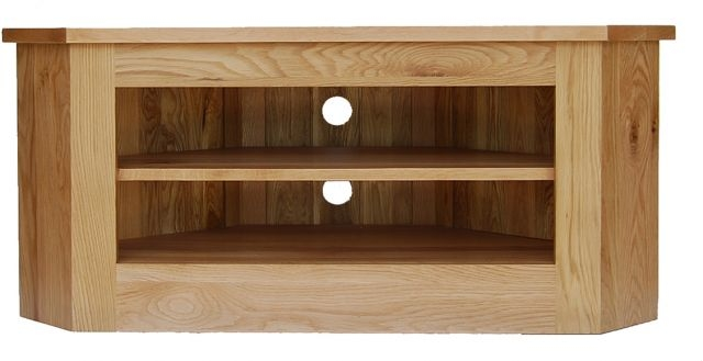 Awesome Wellknown Oak Corner TV Cabinets In Occasional Oak Corner Tv Unit Tv Units What Nots (Image 5 of 50)