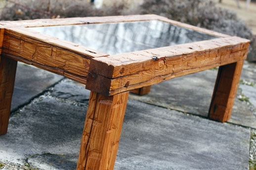 Awesome Wellknown Reclaimed Wood And Glass Coffee Tables Throughout Tables And Island Tops Ohio Valley Reclaimed Wood (View 33 of 50)