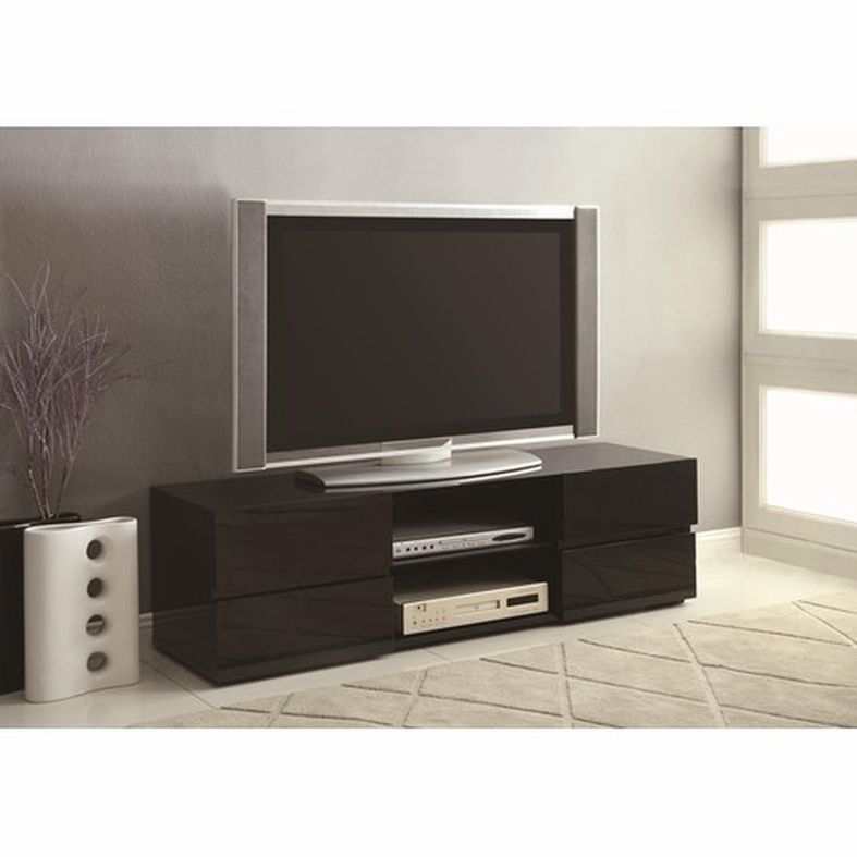 Awesome Well Known Rectangular TV Stands Throughout Black Wood Tv Stand Steal A Sofa Furniture Outlet Los Angeles Ca (Image 10 of 50)