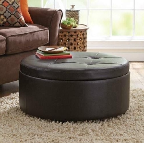 Awesome Well Known Red Round Coffee Tables For Round Leather Ottoman Coffee Table (View 26 of 50)