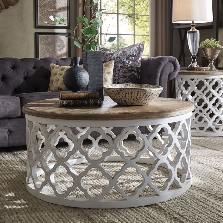 Awesome Well Known Round Coffee Tables Intended For Best 25 White Round Coffee Table Ideas Only On Pinterest (Image 9 of 50)