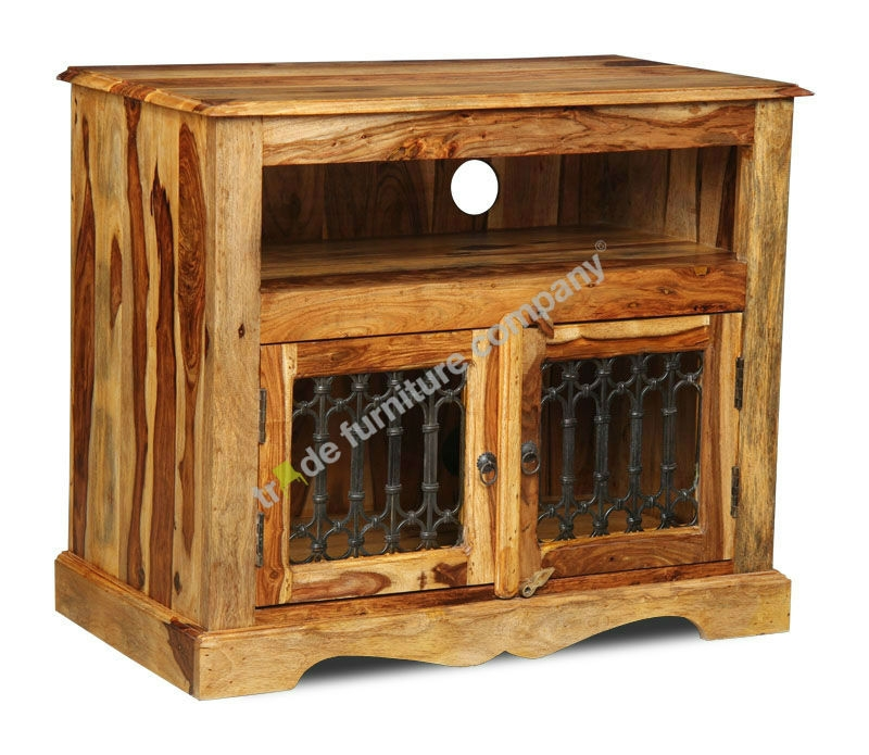 Awesome Well Known Sheesham Wood TV Stands In Jali Wood Tv Cabinets Jali Furniture (View 44 of 50)