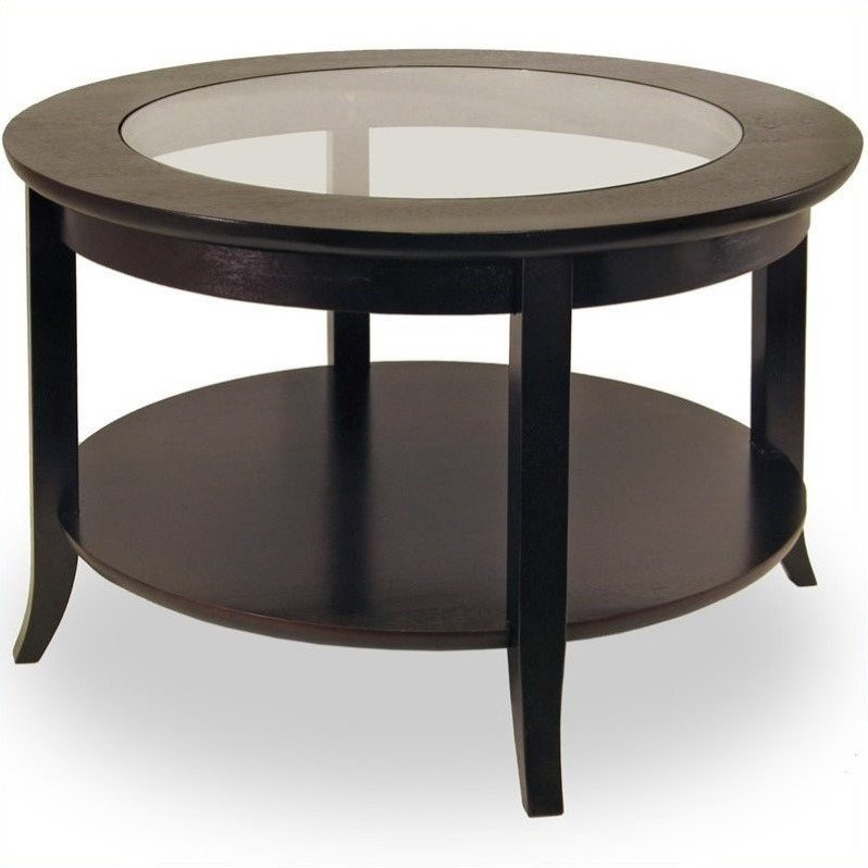 Awesome Well Known Square Black Coffee Tables For Round Wood Coffee Table With Glass Top In Dark Espresso (View 27 of 40)