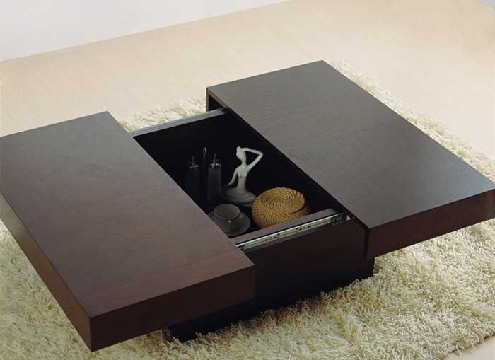 Awesome Well Known Square Coffee Tables With Storages Pertaining To Small Coffee Tables With Storage (View 27 of 50)