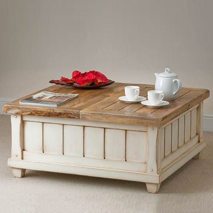 Awesome Well Known Square Coffee Tables With Storages Regarding Driftwood Coffee Table As Square Coffee Table With Best White (Image 5 of 50)