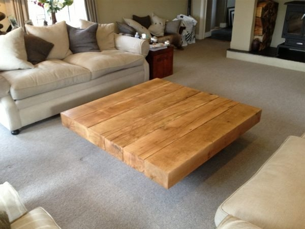 Awesome Well Known Square Oak Coffee Tables Intended For Square Oak Coffee Table 2 Tarzantablescouk (View 28 of 50)