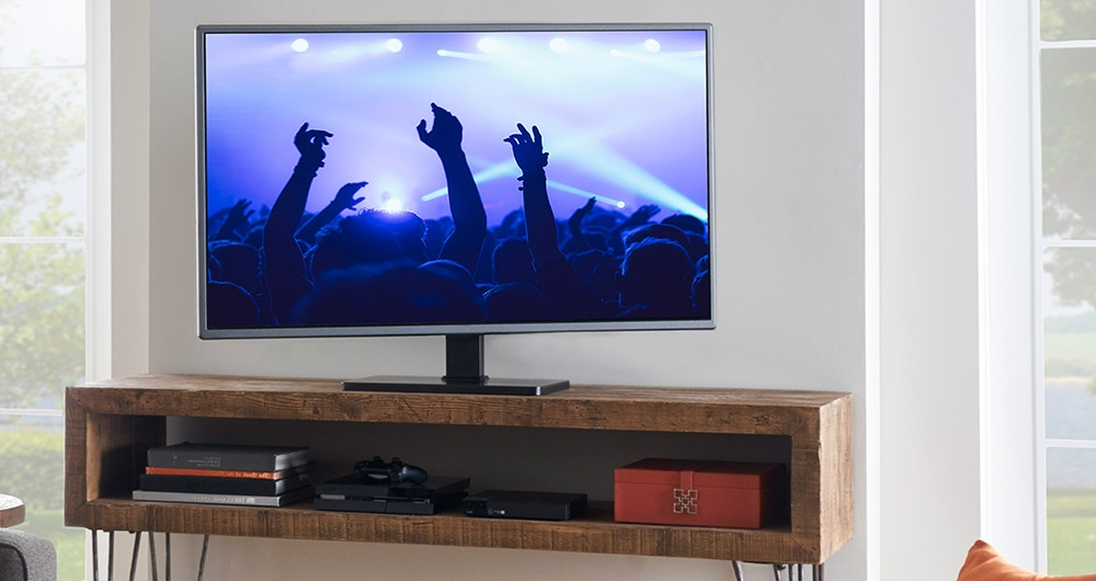 Awesome Well Known Swivel TV Stands With Mount Within Universal Swiveling Tv Stand For Tvs Up To 60 Echogear (Image 12 of 50)