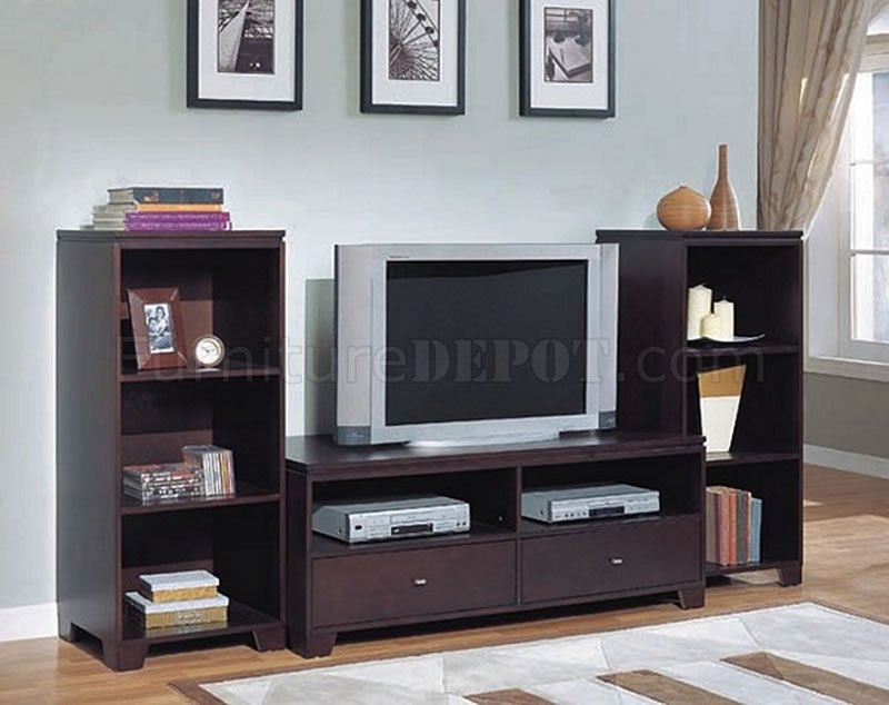 Awesome Wellknown TV Stands With Drawers And Shelves With Cappuccino Finish Contemporary Tv Stand Wdrawers (View 4 of 50)