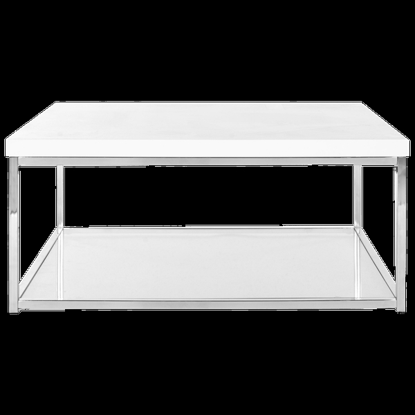 Awesome Wellknown White And Chrome Coffee Tables With Safavieh Modern Glam Malone White Chrome Coffee Table Decorist (Image 9 of 50)