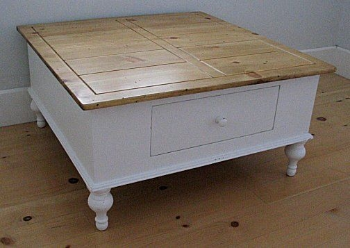 Awesome Well Known White Cottage Style Coffee Tables Intended For Grotfurniture Plywood Coffee Table Sample Brown Wooden Themes (Image 14 of 50)