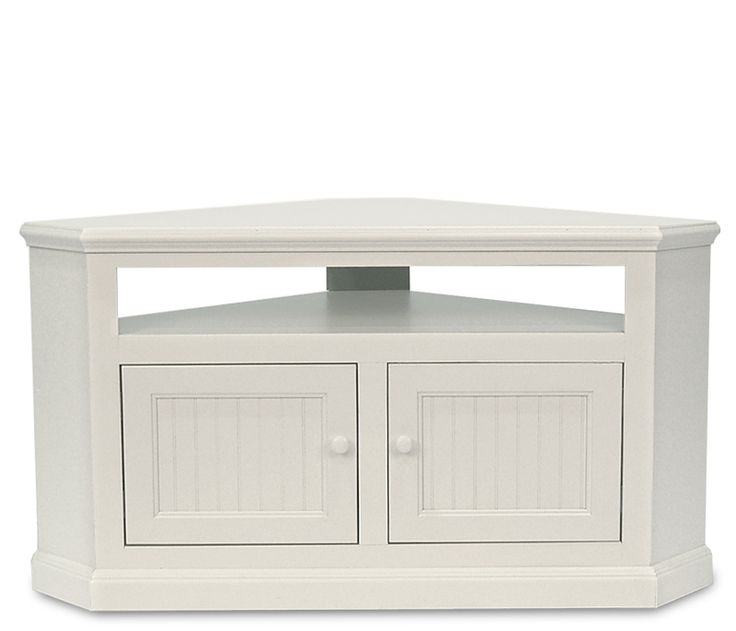 Awesome Well Known White Gloss Corner TV Stands Throughout Best 25 Small Corner Tv Stand Ideas On Pinterest Corner Tv (Image 3 of 50)