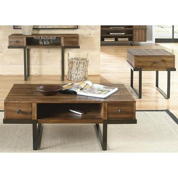 Awesome Wellliked 2 Piece Coffee Table Sets Regarding Liberty Furniture Paxton 2 Piece Coffee Table Set In Wire Brushed (View 43 of 50)