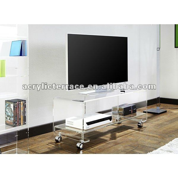 Awesome Wellliked Acrylic TV Stands Inside Acrylic Tv Stand With Wheels Acrylic Tv Stand With Wheels (View 32 of 50)