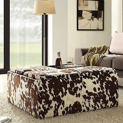 Awesome Wellliked Animal Print Ottoman Coffee Tables Regarding Animal Print Storage Ottoman (Image 7 of 50)