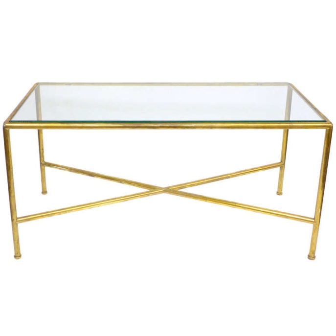 Awesome Wellliked Antique Brass Glass Coffee Tables Pertaining To Glass Brass Coffee Table Idi Design (Image 9 of 50)