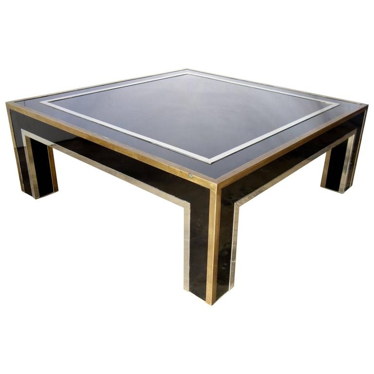 Awesome Wellliked Chrome And Wood Coffee Tables With Italian Mid Century Black Square Metal Coffee Table With Chrome (Image 5 of 50)