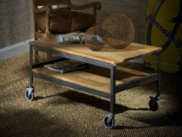 Awesome Wellliked Coffee Tables With Wheels In Coffee Table Rustic Coffee Tables With Wheels Rustically Modern (View 38 of 40)