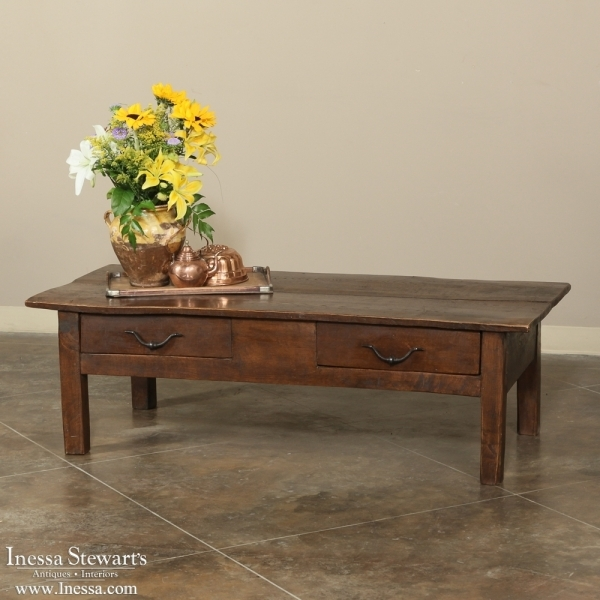 Awesome Wellliked Country French Coffee Tables Inside 19th Century Rustic Country French Coffee Table Inessa Stewarts (Image 5 of 50)