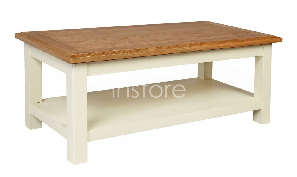 Awesome Wellliked Cream And Oak Coffee Tables Intended For Painted Coffee Tables Uk Painted Oak Coffee Table Antique Coffee (Image 10 of 40)