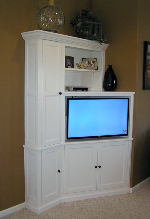 Awesome Wellliked Flat Screen TV Stands Corner Units Within Best 25 Corner Tv Cabinets Ideas Only On Pinterest Corner Tv (Image 9 of 50)