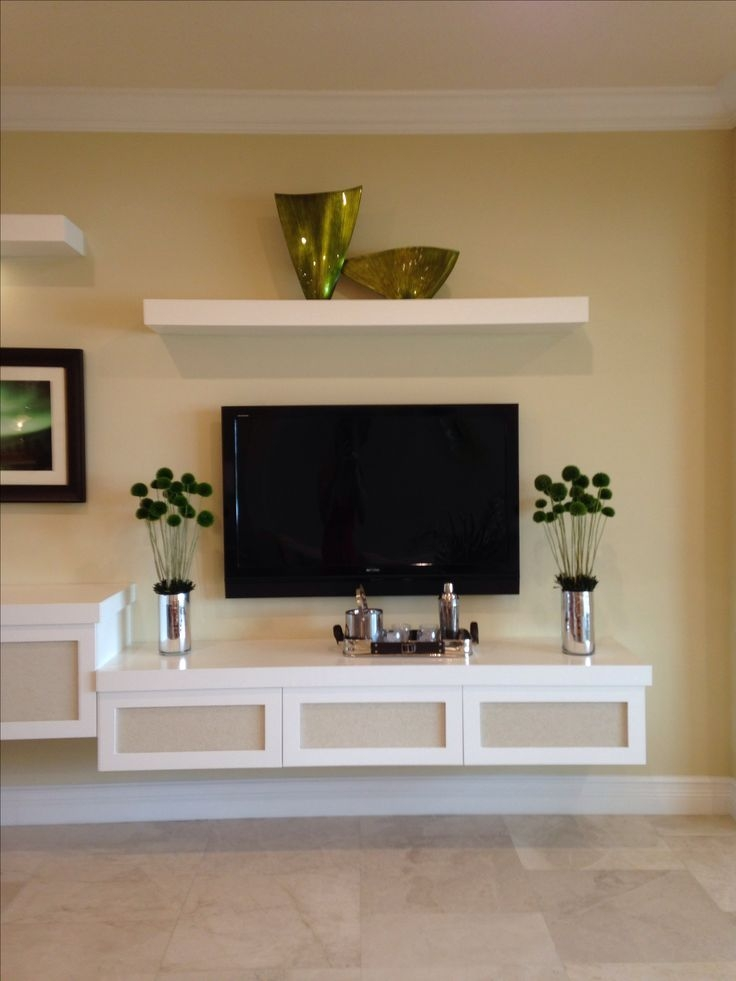 Awesome Wellliked Floating Glass TV Stands Throughout Best 25 Floating Tv Stand Ideas On Pinterest Tv Wall Shelves (Image 7 of 50)