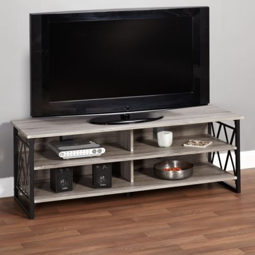 Awesome Wellliked Grey Wood TV Stands With Regard To Wood Tv Stand 60 Inch Living Room Home Furniture Media (Image 9 of 50)