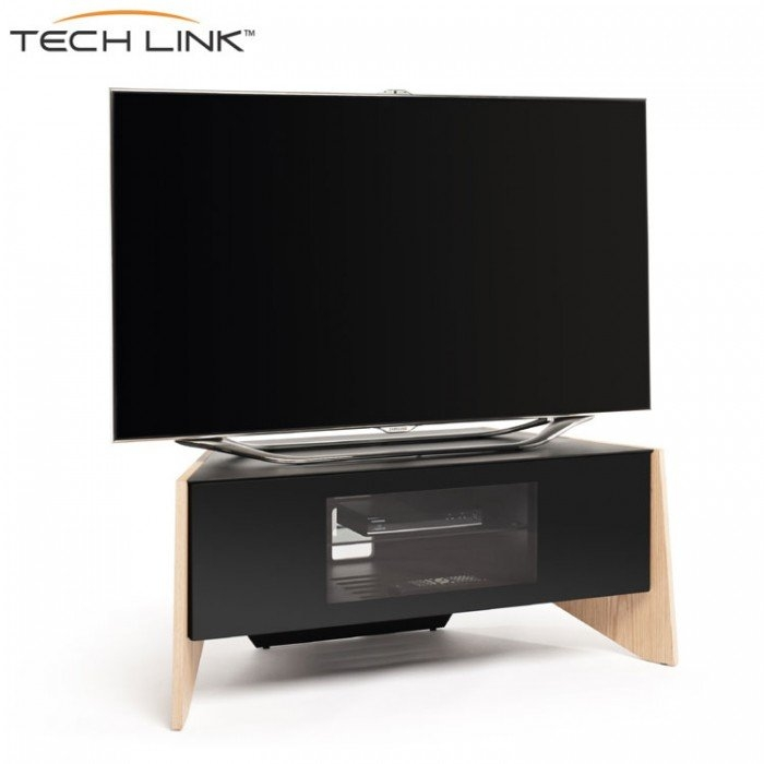 Awesome Wellliked Light Oak Corner TV Cabinets In Techlink Ftp100lo Facet Corner Tv Cabinet In Light Oak And Black (Image 13 of 50)