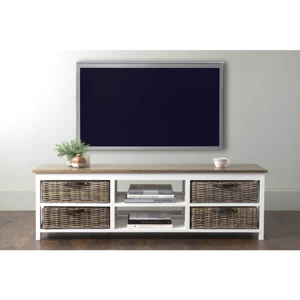 Awesome Wellliked Mahogany TV Stands With Regard To East At Mains Lovell White Rectangle Mahogany Tv Stand Free (Photo 11 of 50)