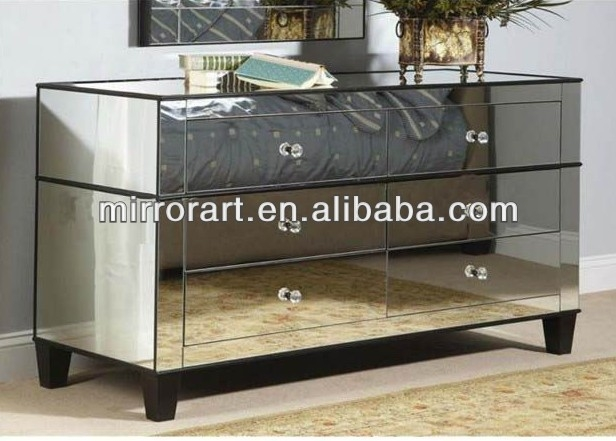 Awesome Wellliked Mirrored TV Stands Intended For Venetian Design Mirrored Tv Stand With Drawers Buy Glass (View 3 of 50)