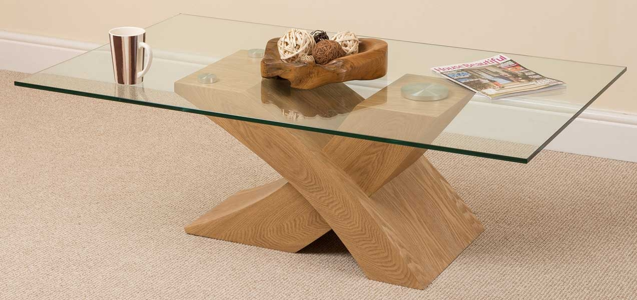 Awesome Wellliked Oak And Glass Coffee Tables With Regard To Wood Glass Coffee Table (View 8 of 50)