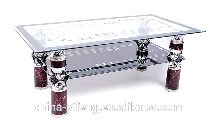 Awesome Wellliked Quality Coffee Tables With Regard To High Quality Aluminium Leg Glass Top Coffee Tables Made In China (Image 6 of 50)